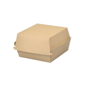 Burger box brązowy 13/13/8cm.