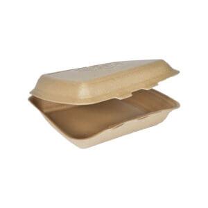 Pojemnik obiadowy EPP niedzielony brązowy
