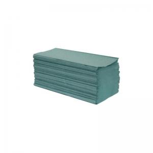 Ręcznik papierowy zielony makulaturowy 200 listków.
