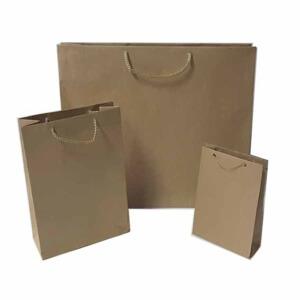 Torba papierowa brązowa 24,5/16,5/7cm. (WM)